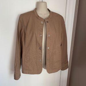 Eileen Fisher snap front cotton jacket/blazer